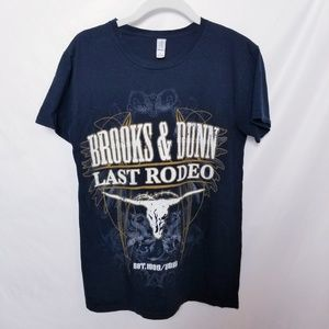 Brooks  & Dunn Last Rodeo T shirt Size Small
